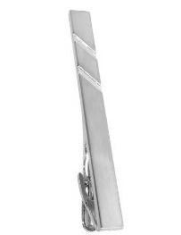 Moderne Krawattennadel Rhodium veredelt