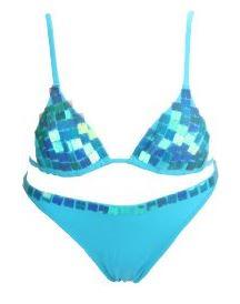 Calzedonia Bikini in der Farbe blau türkis