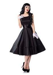 Schwarzes Abendkleid im 50er Jahre Stil