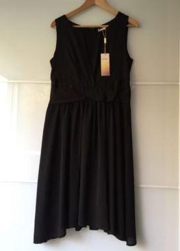 Schwarzes Abendkleid der Marke Lovie in der Größe 42 XL
