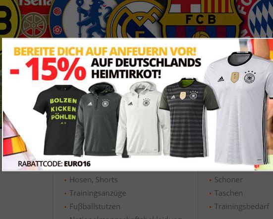 Rabattcode auf Deutschlands Heimtrikot