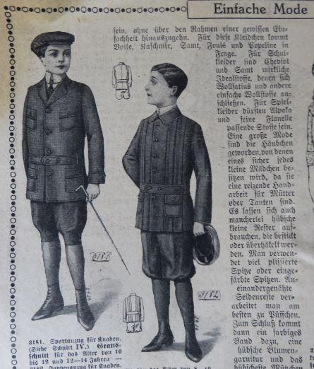 Kindermode 1912
